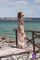 Гипюровая пляжная накидка длинная