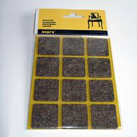 Войлочные мебельные подкладки самоклеящиеся (коричневые).