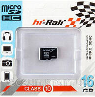 Карта п. HI-RALI microSDHC 16 GB card Class 10