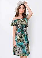 Летнее женское платье-трансформер с ярким принтом 90114/4