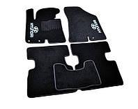 Ковры салона Hyundai IX35 2010- черные, 3шт ворсовые