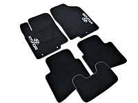 Ковры салона Hyundai Accent 2011- Solaris черные, 5шт ворсовые