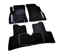 Ковры салона Nissan Juke 2010- черные, 5шт ворсовые