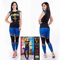 Женский комплект футболка+лосины Турция. VOGUE 10289. Размер 44-46.