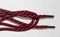Шнурки 5мм плотные черный+красный, фото 1