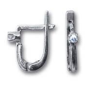 Серьги серебряные классические