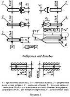 Комплект вставок к резьбовым микрометрам МВМ-60 (шаг 0,4-6,0) ГОСТ 4380-90