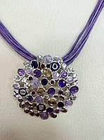 Кулон / подвеска на шею фиолетовая