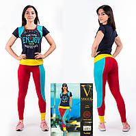 Женский комплект футболка+лосины Турция. VOGUE 10239. Размер 44-46.