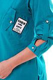 Рубашка женская Стиль бирюза, фото 4