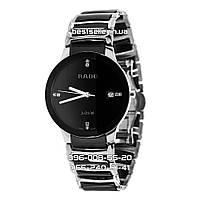 Часы Rado Centrix Diamonds Quartz black/silver. Реплика: ААА.