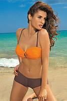 MARKO M 319 TIFFANI Раздельный купальник балконет оранжевый/коричневый (energy-cubano)