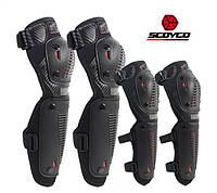 Мотозащита SCOYCO K10-1 (мотонаколенники+мотоналокотники) черная