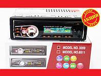 Практичная автомагнитола Pioneer 3209 Usb+RGB подсветка+Fm+Aux+ пульт (4x50W). Хорошее качество.  Код: КГ1447