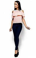 Женская модная блуза, персик, р.42-46