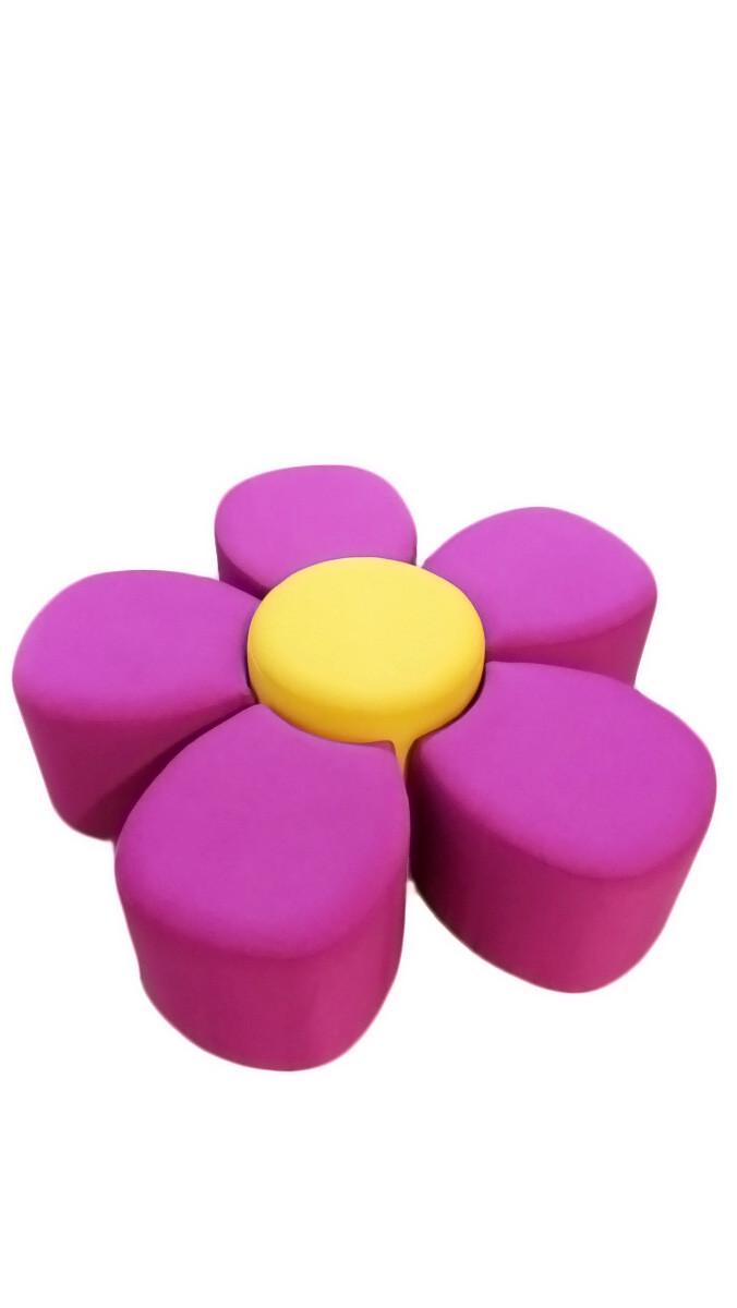 Детский игровой диван Цветок (d=1240*400h)