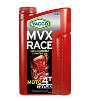 Мотоциклетное масло YACCO MVX RACE 4T 15W50 (2л.) для 4-тактных двигателей