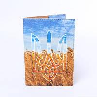 Обложка на паспорт Герб та пшениця