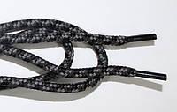 Шнурки 5мм плотные черный+т.серый, фото 1