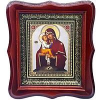 Фигурная икона Почаевская