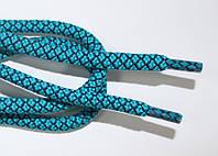 Шнурки круглые 6мм с наполнителем мор.волна+черный, фото 1