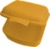 Ланчбокс 0,9 л 125х115х75 мм мандарин
