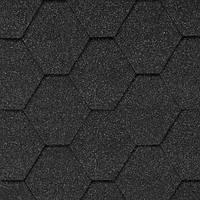 """Битумная черепица AQUAIZOL """"МОЗАИКА"""" Гавайский песок (черный + темно-серый), фото 1"""
