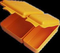 Ланчбокс двойной 2 л 165х220х60 мм мандарин