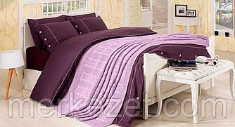 """Постельный набор и покрывало """"Нирвана"""". Покрывало и постельное белье. Комплект для спальни, евро размер"""