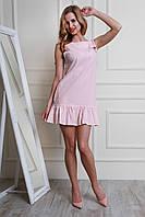 Очень красивое платье из льна в белую полоску модного фасона