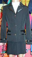 Костюм школьный для девочки:пиджак и юбка ,размеры 30-40,возраст 5-10 лет S956
