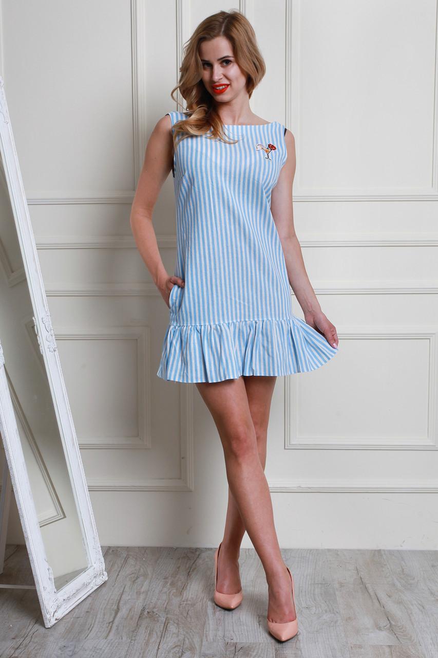 62f6699acec Стильное молодежное платье на лето модного фасона с пайетками от ...
