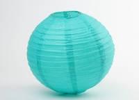 Украшения для праздников шар плиссе  20 см. бирюзовые