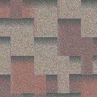 """Битумная черепица AQUAIZOL """"АКЦЕНТ"""" Кедровый (красный + серый+ коричневая тень), фото 1"""