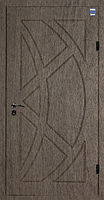 Двери входные металл/МДФ Метр Дор Регион MD 008, 860*2050, R, (лесной орех) 1замок