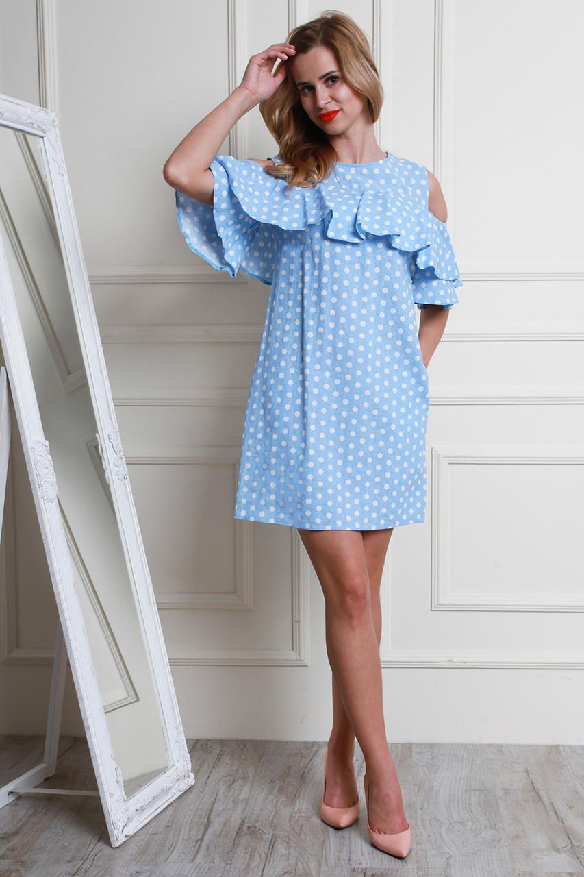 ef249b4ada1 Платье свободного кроя с кармашками в боковых швах - Оптово-розничный  магазин одежды