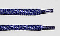 Шнурки круглые 6мм с наполнителем василек+серый, фото 1