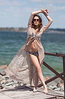 Пляжная гипюровая туника-халат в пол. 3 цвета!