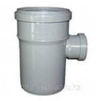 Тройник 110х50/87,5º ПП Европласт с раструбами и уплотнительными кольцами для внутренней канализации серый