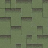 """Битумная черепица AQUAIZOL """"АКЦЕНТ"""" Альпийский луг (зеленый с тенью), фото 1"""