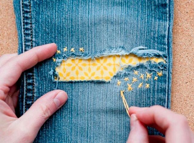 залатать детские джинсы