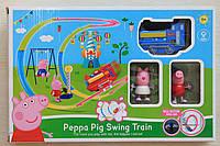 Железная дорога на батарейках Свинка Пепа размер 32*23*5,5 см