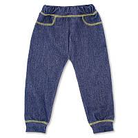 Детские штанишки р. 68 для мальчика демисезонные ткань СТРЕЙЧ-ДЖИНС 95% хлопок 3706 Синий