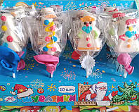Желейная конфета Снеговики  на палочке  20 шт (Жувасики)