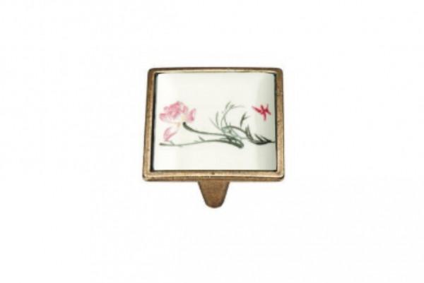 Ручка мебельная Ozkardesler 5352-08/45 керамика 32 мм PORSELEN Бронза Нарцисс