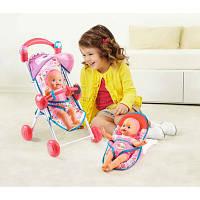Игровой набор с куклой, коляской, шезлонгом Little Mommy Deluxe Baby Care Set Stroller от Fisher-Price, фото 1
