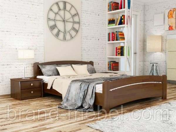 Дерев'яне ліжко двоспальне Венеція / Деревянная кровать двуспальная Венеция
