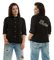 Женская летняя лёгкая батальная рубашка