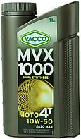 Мотоциклетное масло YACCO MVX 1000 4T 10W50 (1л.) для 4-тактных двигателей