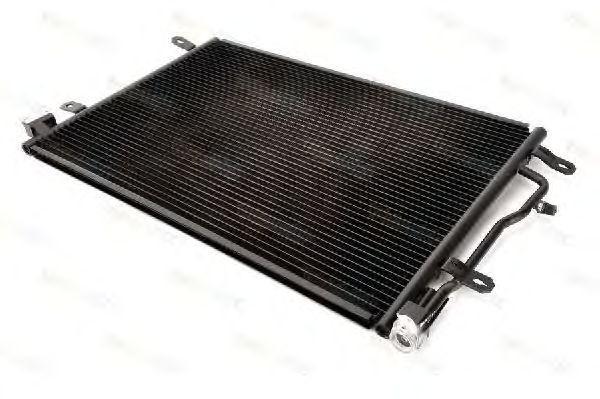 Радиатор кондиционера Audi A4 2000-2004 605*401мм по сотах (без осушителя) KEMP